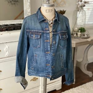 Womens large J.Crew denim jean jacket